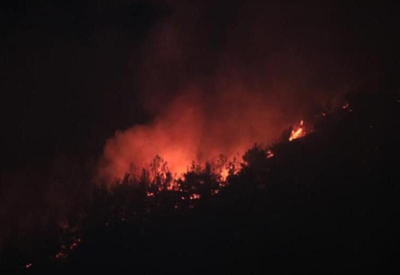 Пожар на территории национального парка Шахдаг