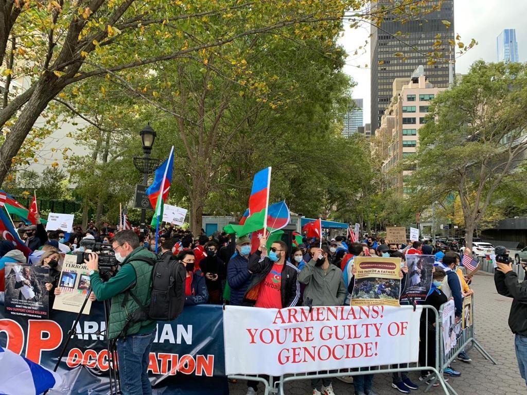 """В Нью-Йорке прошла акция """"Карабах - это Азербайджан!"""""""