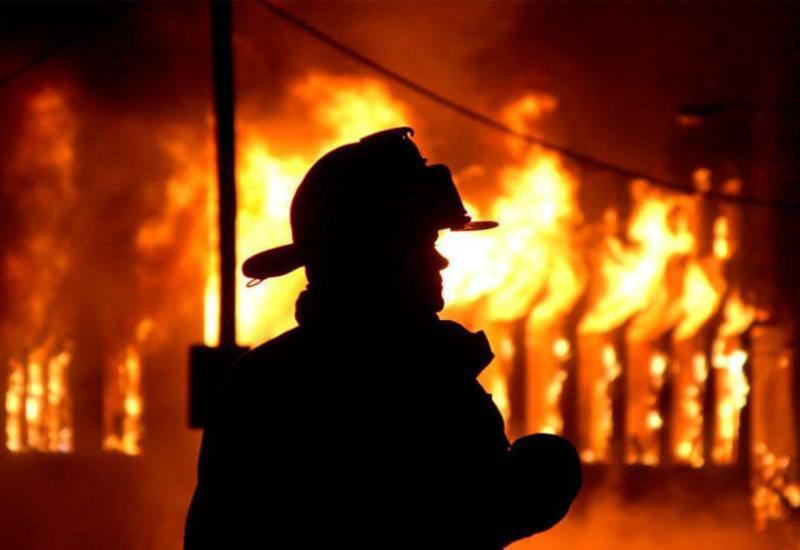 В Шеки в филиале банка произошел пожар