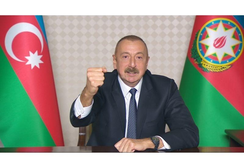 Президент Ильхам Алиев: Мы сражаемся в одиночку, об этом знают все