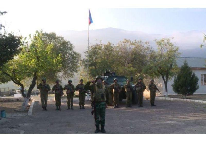 Флаг Азербайджана развевается над поселком Агбенд Зангиланского района