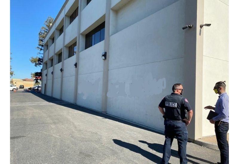 Акт вандализма в Калифорнии