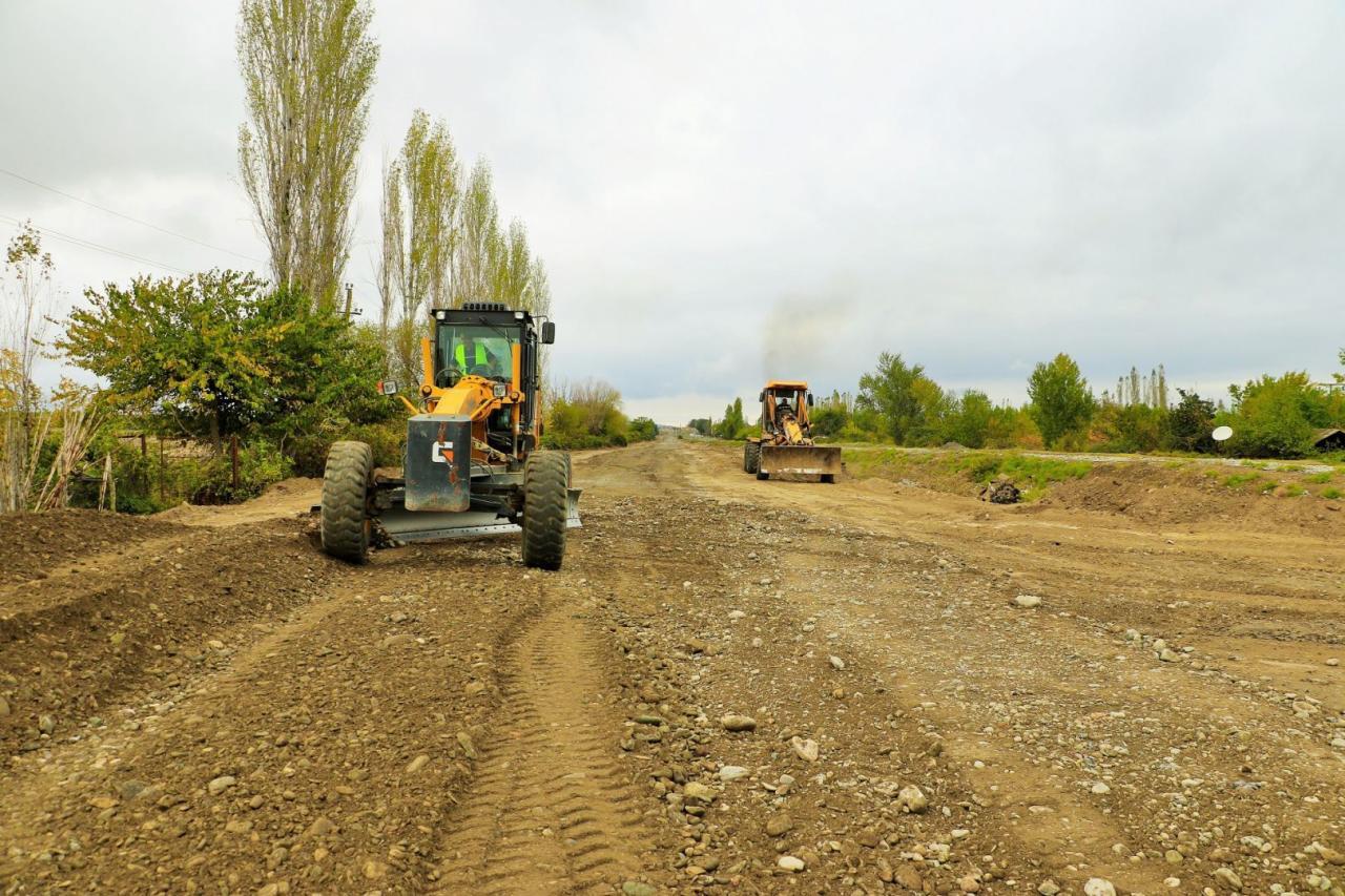 Началось восстановление дорог в освобожденные села Суговушан и Талыш