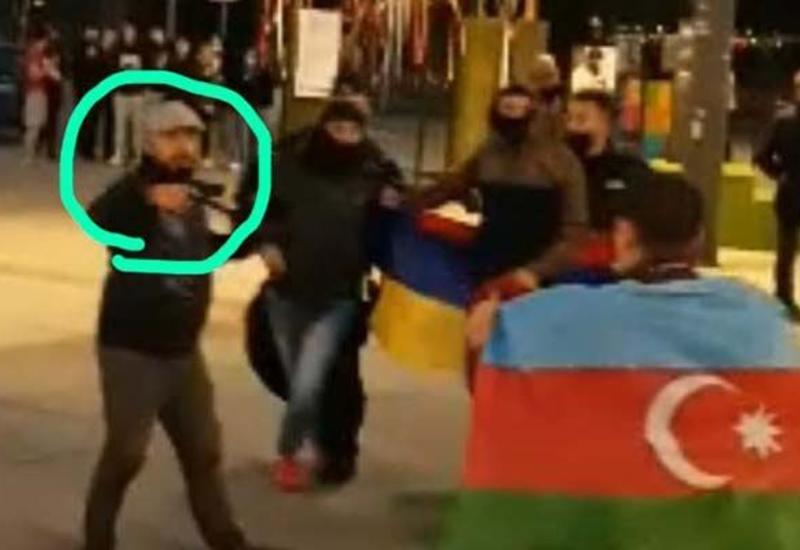В Польше армянские банды напали с оружием на мирную акцию азербайджанцев