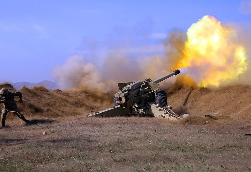 Азербайджанская артиллерия продолжает наносить сокрушительные удары по противнику