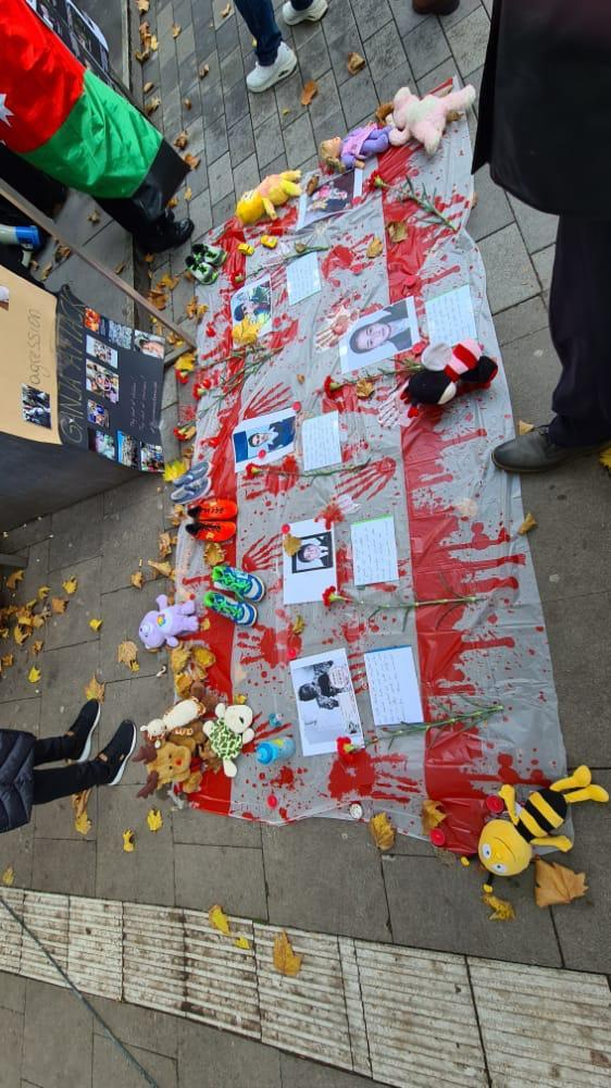 Almaniyada Gəncə terroruna qarşı etiraz yürüşü keçirilib