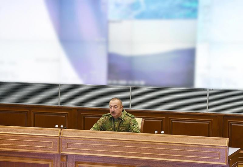 Prezident İlham Əliyev: Düşməni sona qədər qovacağıq, ərazi bütövlüyümüzü bərpa edəcəyik