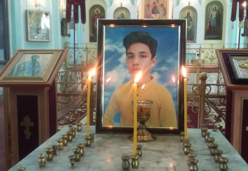 В Гяндже прощаются с погибшим в результате армянского террора 13-летним Артуром Маяковым