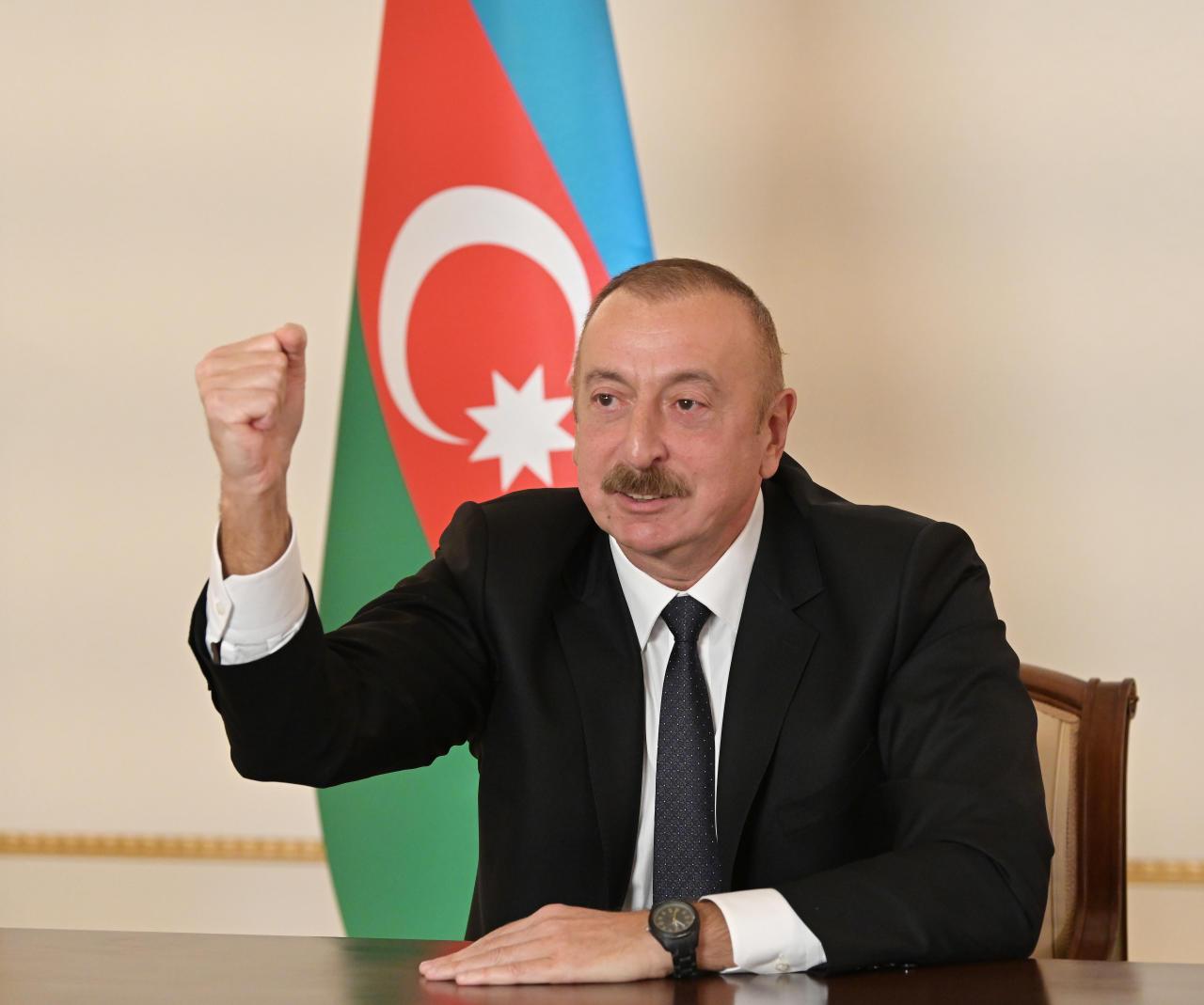Президент Ильхам Алиев выступил с обращением к азербайджанскому народу