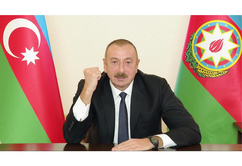 Prezident İlham Əliyev: Biz döyüş meydanında tarixi ədaləti bərpa edirik