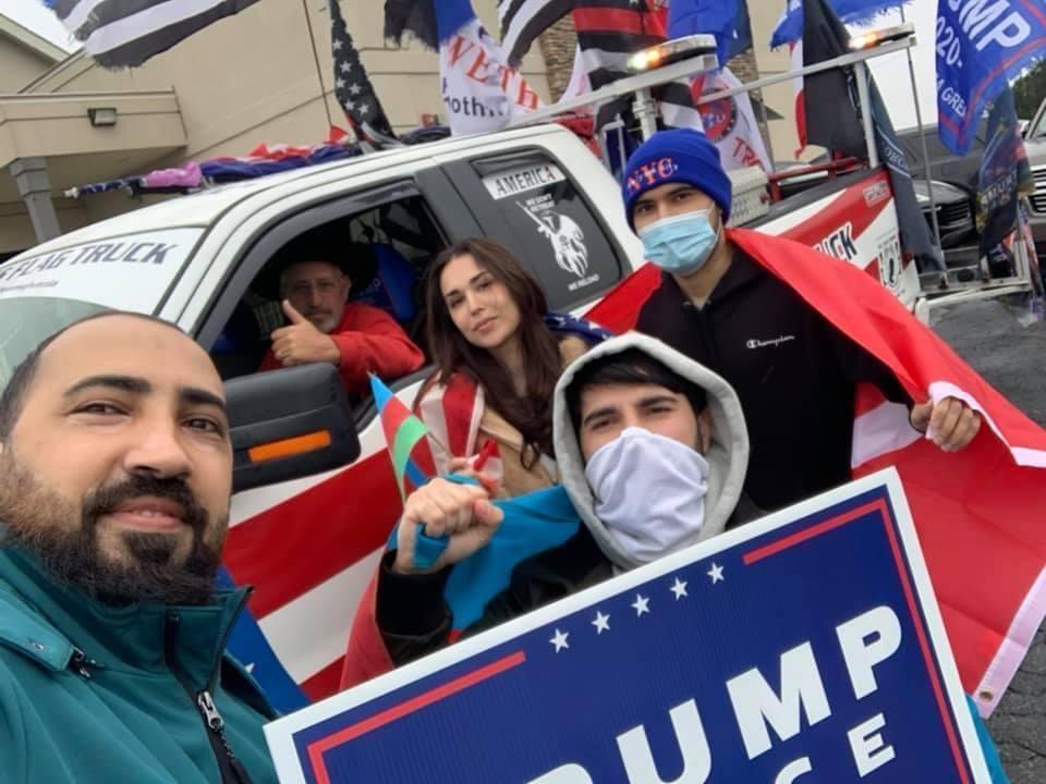 На предвыборной кампании Трампа азербайджанцы протестуют против армянского террора