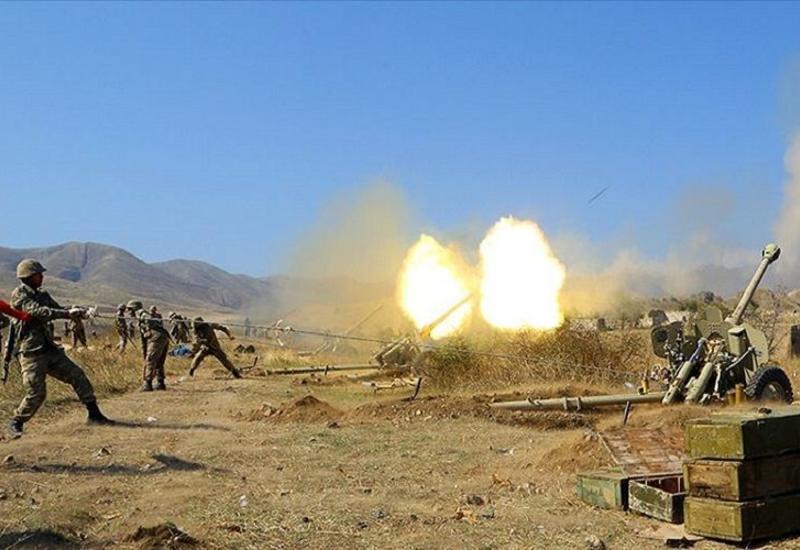 Уничтожено большое количество военной техники армян