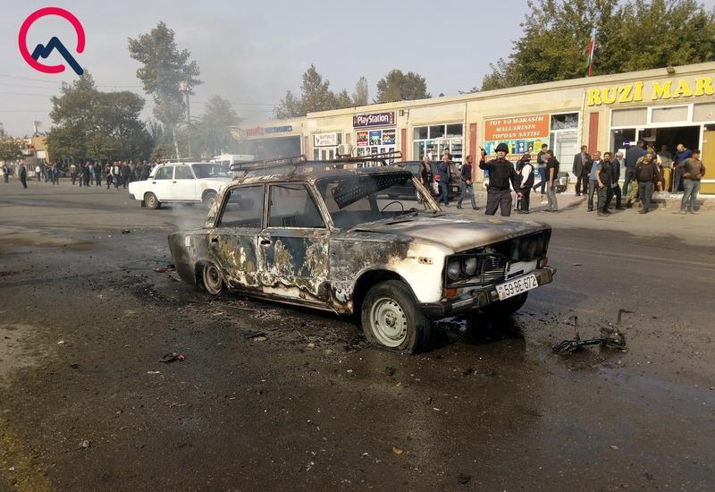 Барда после ракетного удара ВС Армении