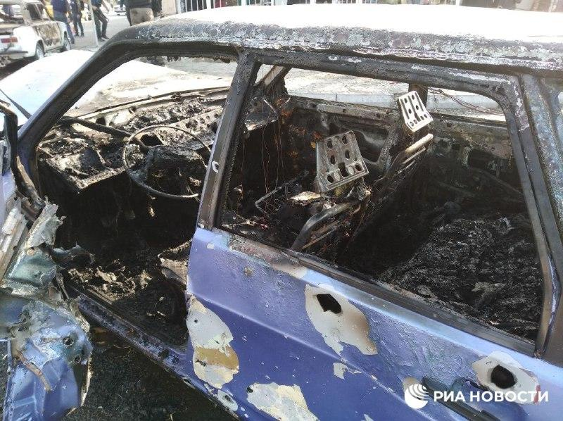 Новые кадры с места армянского ракетного обстрела в Барде