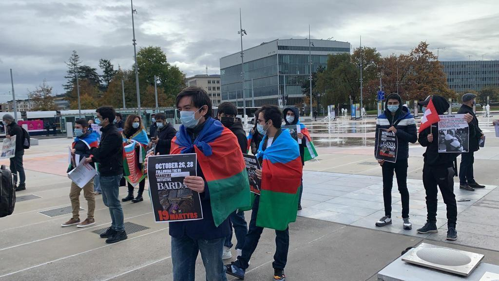 Cenevrədə Ermənistanın terrorçu hərəkətlərinə etiraz edilib
