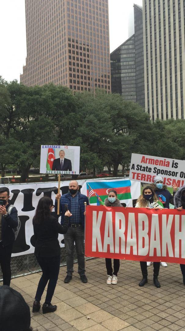 Азербайджанцы США на акции против армянского вандализма