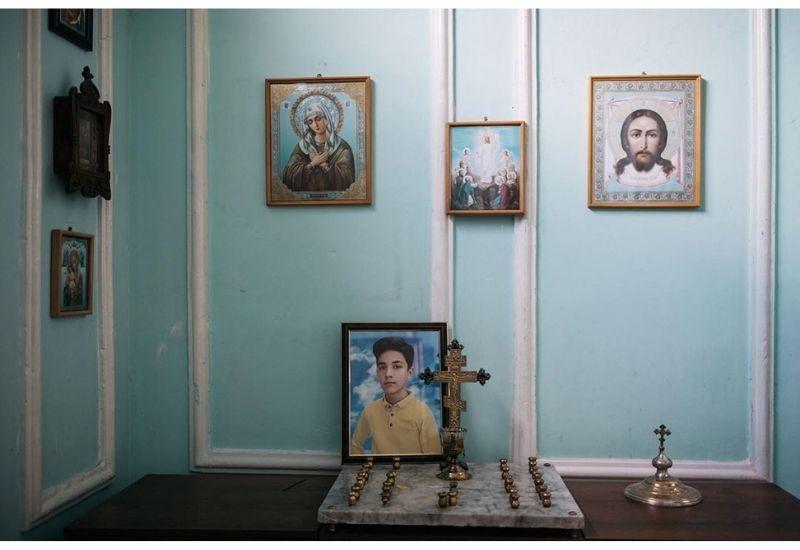 В церкви в Гяндже сохранят фото погибшего при армянском обстреле Артура Маякова