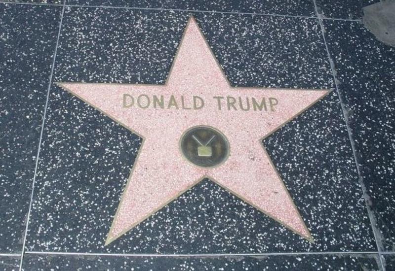 На голливудской Аллее славы разбили звезду Трампа