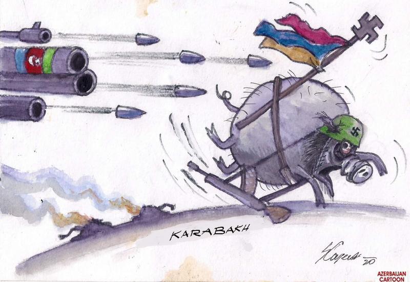 Здесь армяне убегают, жмут на полный газ. Ала, вай-вай, Армения гудбай!