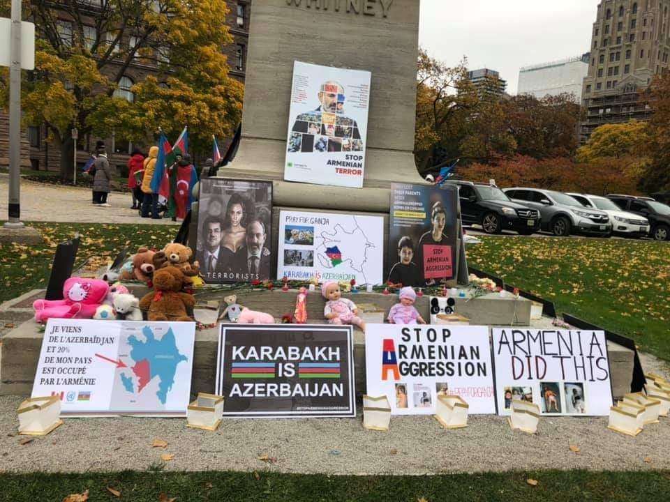 """Kanadada """"We All Stand With Azerbaijan!"""" adlı həmrəylik aksiya keçirilib"""