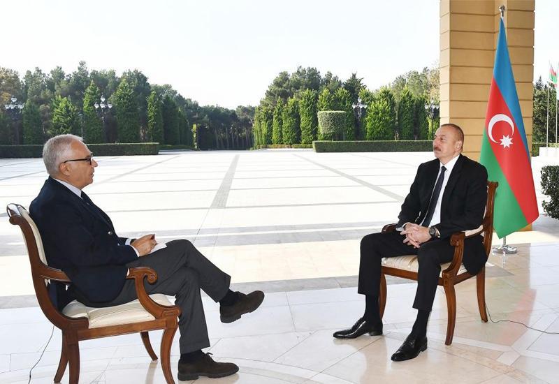 """Президент Ильхам Алиев дал интервью итальянской газете """"La Repubblica"""""""