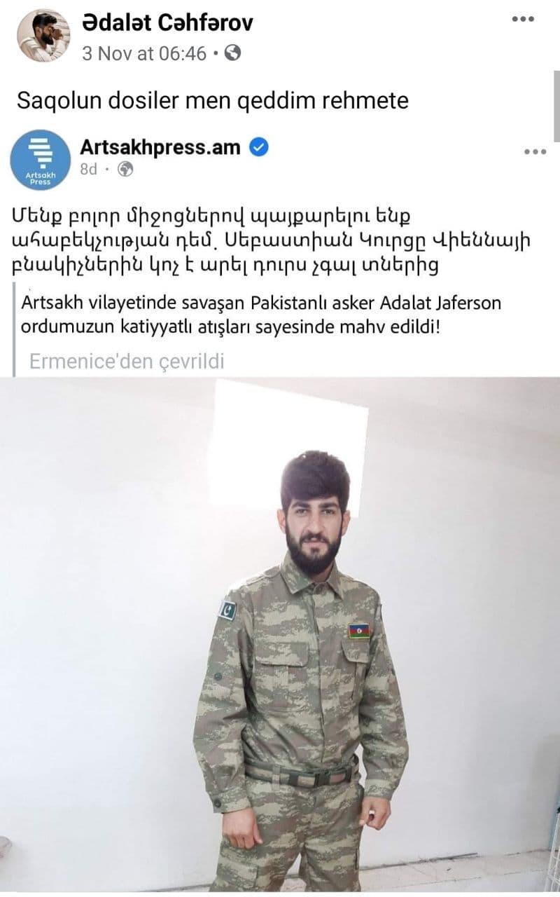 """""""Убитый"""" армянами азербайджанец разоблачил их в Facebook"""