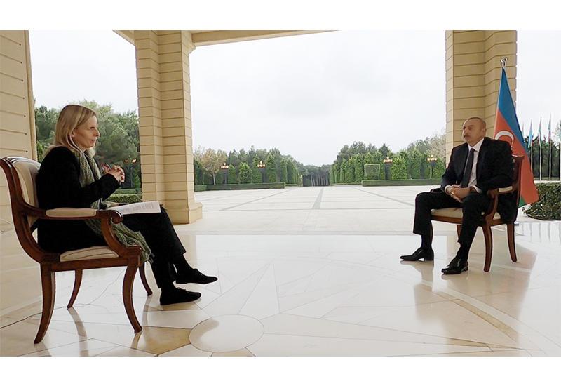 Президент Ильхам Алиев дал интервью BBC News