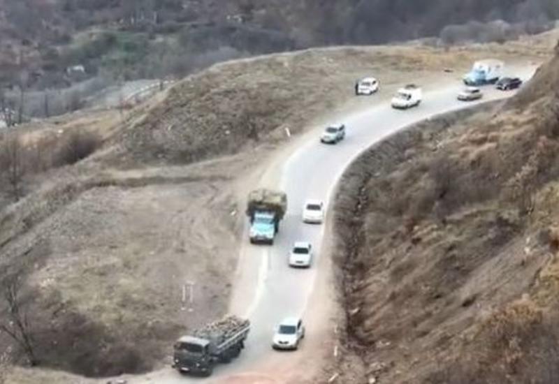 Покидающие Кельбаджар оккупанты вырубают деревья и увозят с собой в Армению