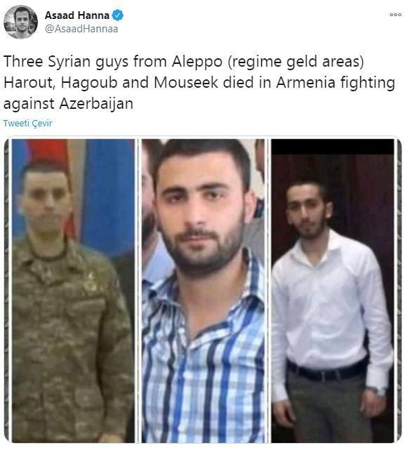 Трое сирийцев на фото воевали на стороне Армении
