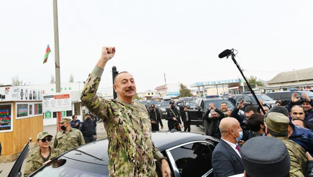 Президент Ильхам Алиев и Первая леди Мехрибан Алиева побывали в освобожденных от оккупации Физулинском и Джебраильском районах, в том числе в городах Физули и Джебраил