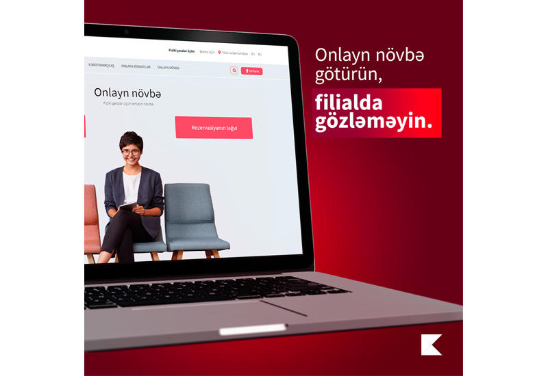 Kapital Bank предоставил услугу онлайн-очереди и для физических лиц (R)