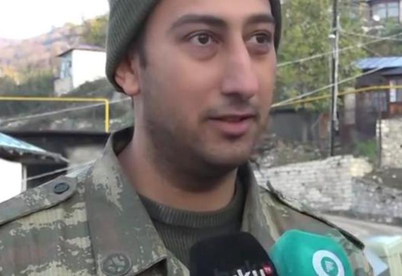Известный азербайджанский актер находится на фронте с первого дня войны