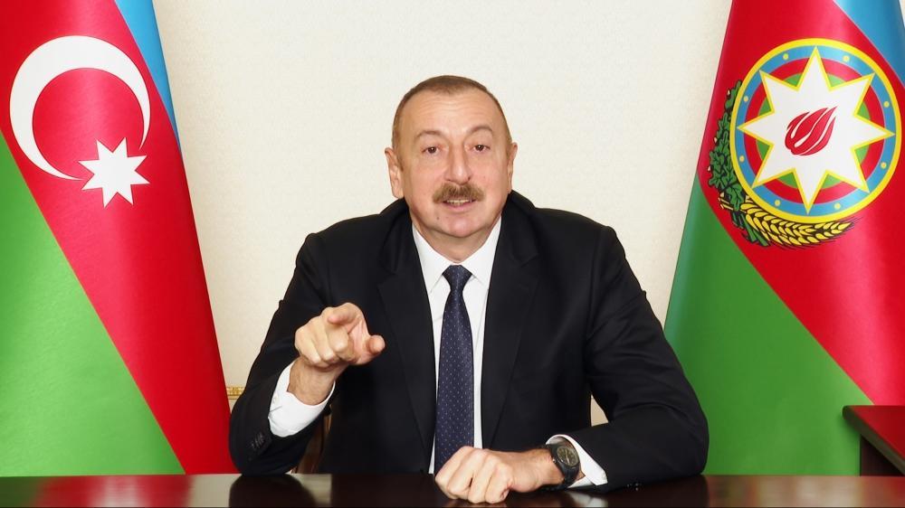 Президент Ильхам Алиев обратился к азербайджанскому народу