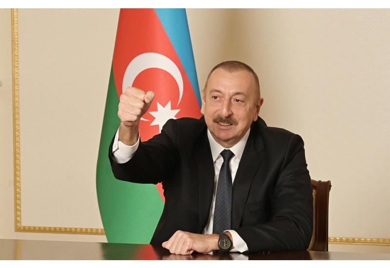 Президент Ильхам Алиев поздравил азербайджанский народ с освобождением Агдама