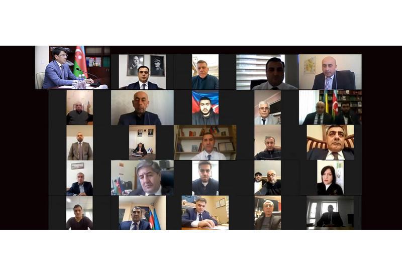 Состоялась виртуальная встреча с азербайджанцами, проживающими в Украине