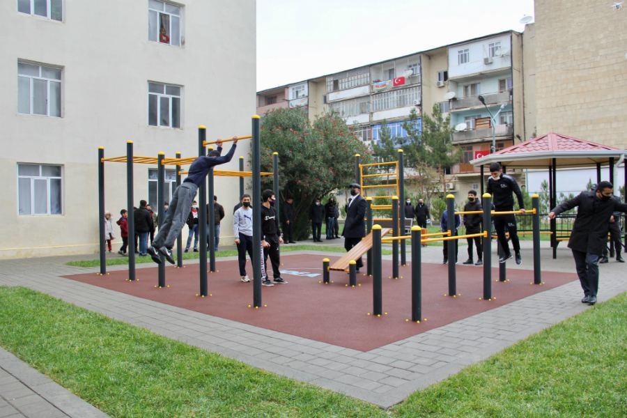 В рамках проекта «Наш двор» благоустроены первые за пределами Баку дворы