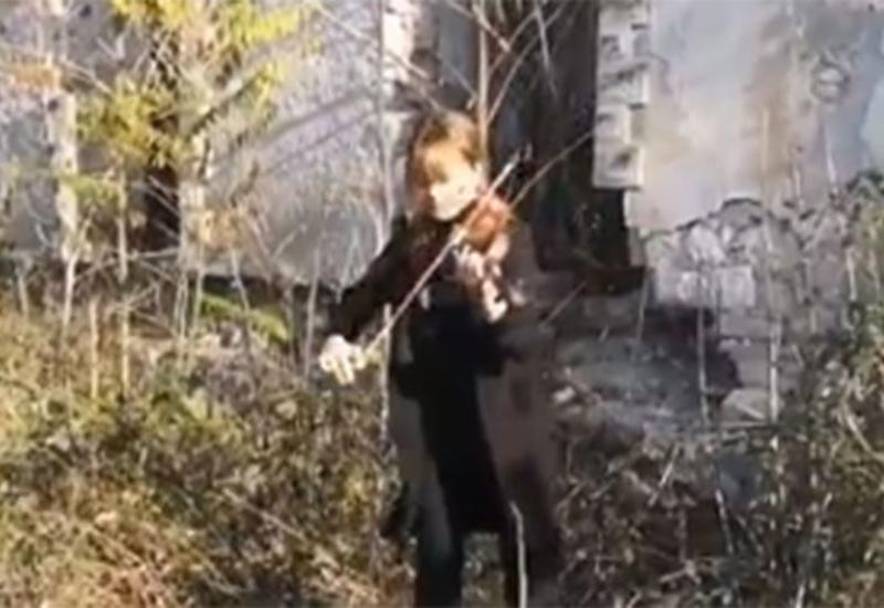 Музыкальный месседж миру из разрушенного Центра культуры города Физули