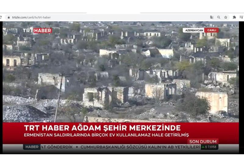 Турецкий телеканал TRT Haber рассказал об армянском вандализме в Агдаме