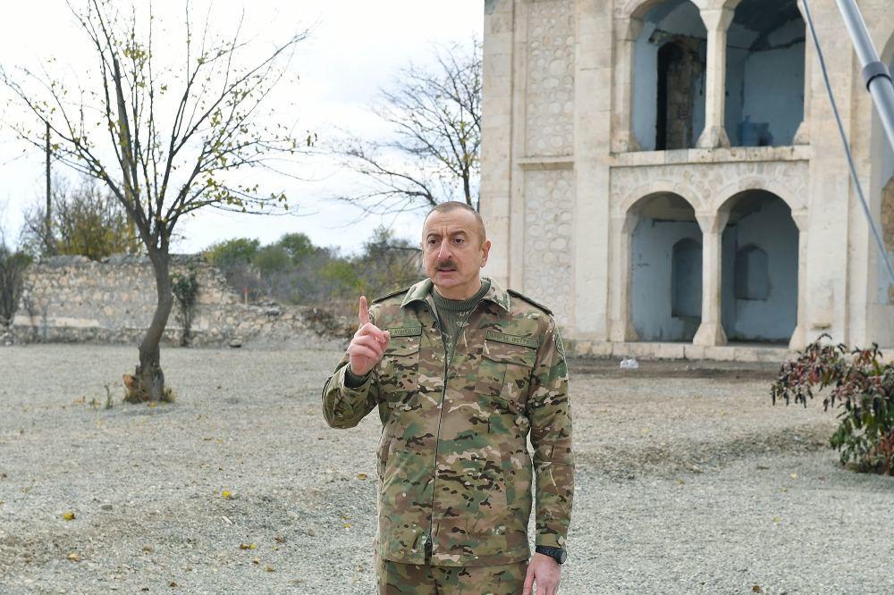 Президент Ильхам Алиев и Первая леди Мехрибан Алиева побывали в освобожденном от оккупации городе Агдам
