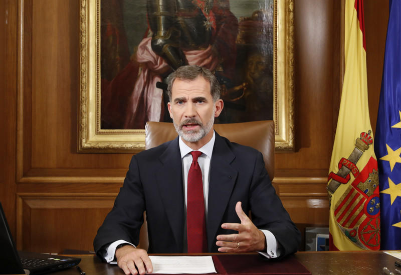 Король Испании ушел на карантин
