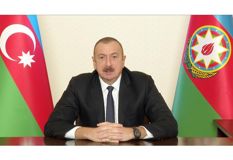 Президент Ильхам Алиев: Когда мы гнали врага из Шуши, он вывел из строя водопровод. Сейчас в Шуше нет воды