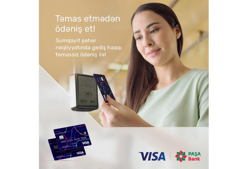 """PAŞA Bank Visa və """"Sumqayıt Nəqliyyat"""" MMC ilə tərəfdaşlıqda Sumqayıt ictimai nəqliyyatında gediş haqqının təmassız ödəniş sistemini təqdim edir"""