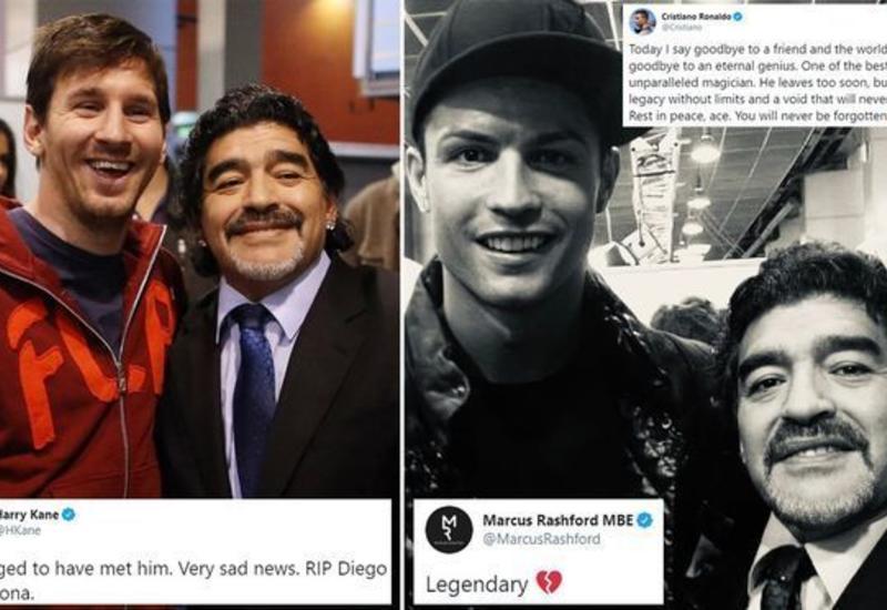 Роналду и Месси прокомментировали смерть Марадоны