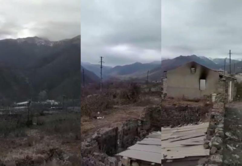 Кадры из разоренного и разрушенного армянами Кельбаджара