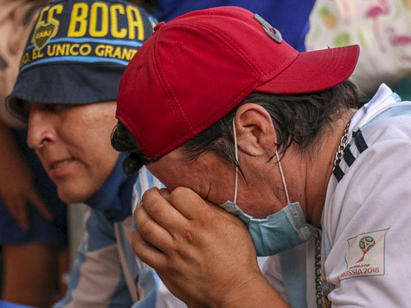 Аргентина плачет по Марадоне