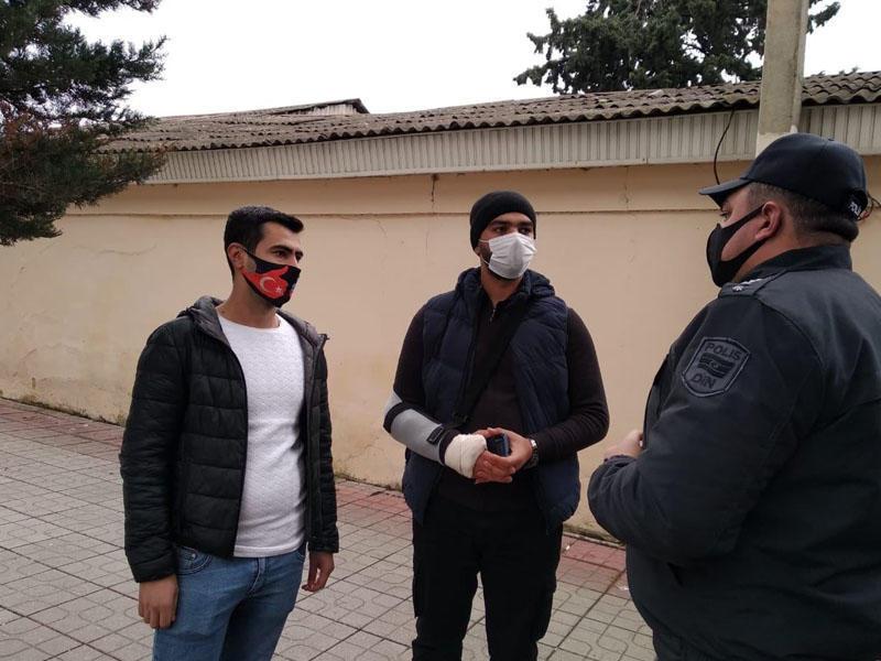 Tibbi maskadan istifadə etməyənlərə qarşı reyd keçirilib