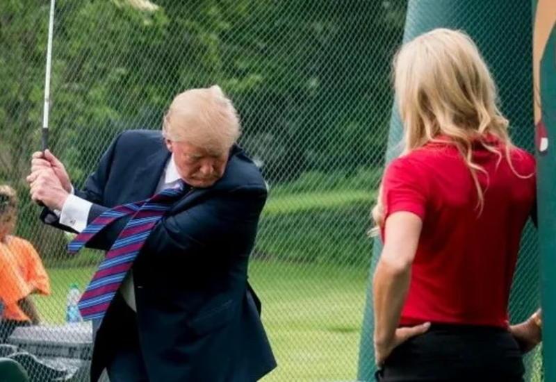 У Трампа сдали нервы во время игры в гольф