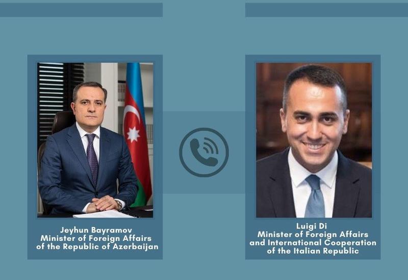 Джейхун Байрамов обсудил с главой МИД Италии последнюю ситуацию в регионе