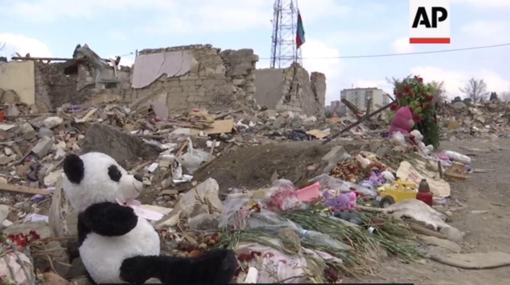"""""""Associated Press"""" Ermənistanın Gəncəyə raket hücumunun ağır nəticələri ilə bağlı reportaj yayıb"""
