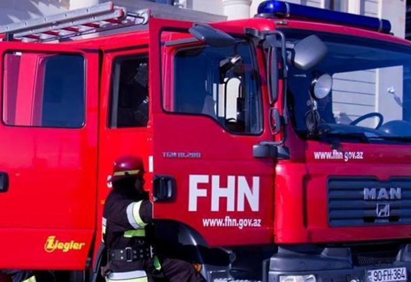 В Хачмазе сгорел дом